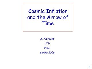 Cosmic Inflation and the Arrow of Time