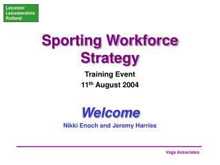 Sporting Workforce Strategy