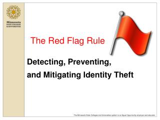 The Red Flag Rule