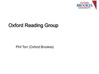 Oxford Reading Group