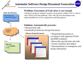 Automatic Software Design Document Generation