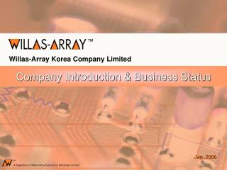 Company Introduction & Business Status