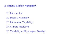 2. Natural Climate Variability