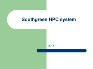 Southgreen HPC system