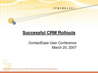 Successful CRM Rollouts