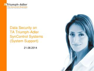 Data Security on  TA Triumph-Adler  SynControl Systems (System Support)
