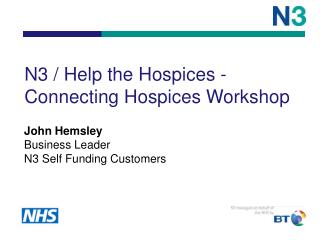 N3 / Help the Hospices - Connecting Hospices Workshop