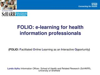 FOLIO: e-learning for health information professionals
