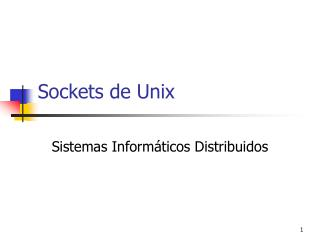 Sockets de Unix