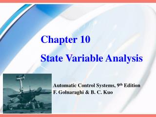 Chapter 10 State Variable Analysis