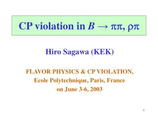 CP violation in B → pp , rp