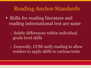 Reading Anchor Standards