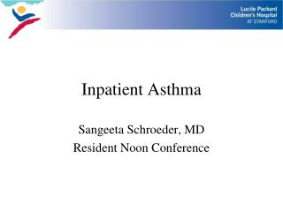 Inpatient Asthma