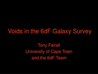 Voids in the 6dF Galaxy Survey