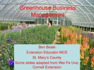 Greenhouse Business Management