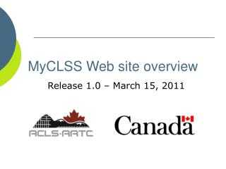 MyCLSS Web site overview