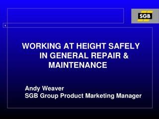 WORKING AT HEIGHT SAFELY           IN GENERAL REPAIR &                 MAINTENANCE