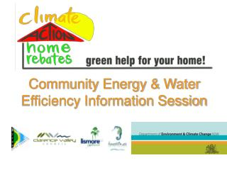 Community Energy & Water Efficiency Information Session
