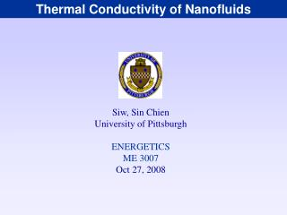 Thermal Conductivity of Nanofluids