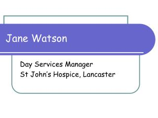 Jane Watson