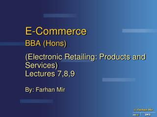 E-Commerce BBA ( Hons )