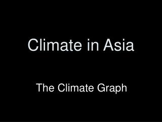 Climate in Asia