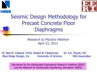 Seismic Design Methodology for Precast Concrete Floor Diaphragms