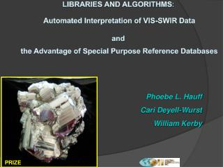 LIBRARIES AND ALGORITHMS :  Automated Interpretation of VIS-SWIR Data and
