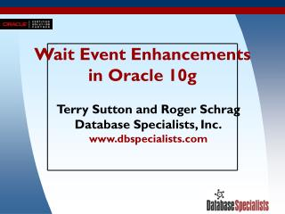Wait Event Enhancements in Oracle 10g
