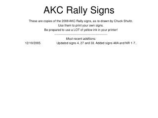 AKC Rally Signs