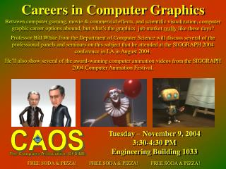 Tuesday – November 9, 2004 3:30-4:30 PM Engineering Building 1033