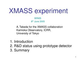 Introduction  R&D status using prototype detector  Summary