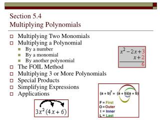 Section 5.4   Multiplying Polynomials