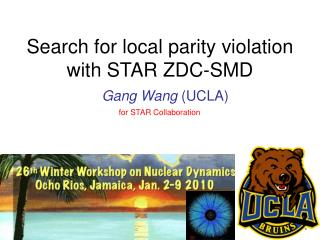 Search for local parity violation  with STAR ZDC-SMD