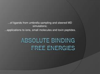 Absolute binding free energies