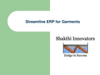 Streamline ERP for Garments