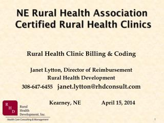 NE Rural Health Association   Certified Rural Health Clinics