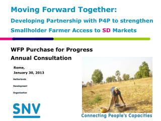 WFP Purchase for Progress Annual Consultation