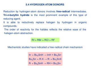 5.4 HYDROGEN ATOM DONORS