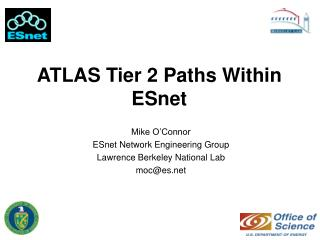 ATLAS Tier 2 Paths Within ESnet