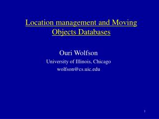 Location management and Moving Objects Databases