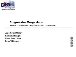 Progressive Merge Join : A Generic and Non-Blocking Sort-Based Join Algorithm