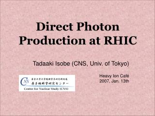 Direct Photon Production at RHIC