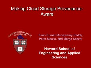Making Cloud Storage Provenance-Aware