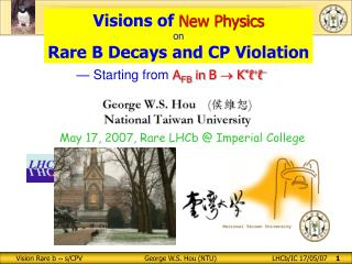 Visions of  New Physics on Rare B Decays and CP Violation
