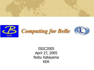 Computing for Belle