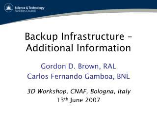 Backup Infrastructure – Additional Information