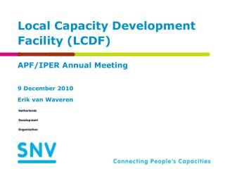 Local Capacity Development Facility (LCDF)