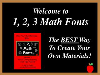 Welcome to  1, 2, 3 Math Fonts
