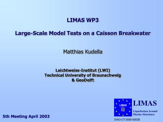 LIMAS WP3 Large-Scale Model Tests on a Caisson Breakwater